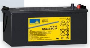 Gamme batteries plomb scellées à électrolyte gelifié EXIDE SONNENSCHEIN Solar - 12V - 6.6 à 230Ah