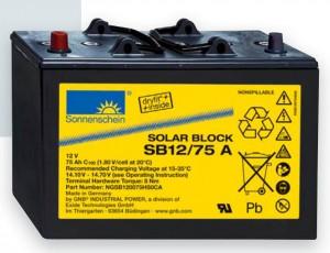 Gamme batteries plomb scellées à électrolyte gelifié EXIDE SONNENSCHEIN Solar Block - 12V / 60 à 185Ah, 6V / 200 & 300Ah