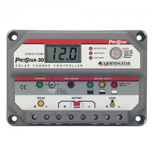 Régulateur solaire de charge décharge avec afficheur LCD MORNINGSTAR ProStar - 12/24 & 48V - 15 & 30A