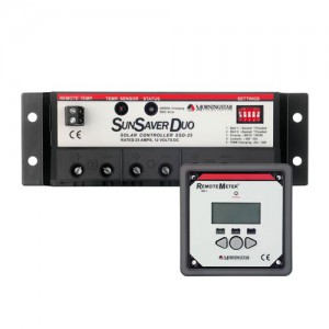 Régulateur solaire de charge décharge pour 2 parcs batteries avec afficheur déporté MORNINGSTAR SunSaver Duo - 12V - 30A