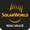 Logo SOLARWORLD, fabricant allemand de modules photovoltaïques