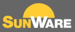 Logo Sunware, fabricant américain de panneaux semi-rigides pour bateaux, camping-cars