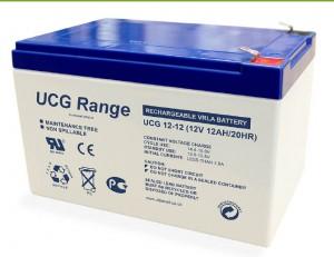 Batterie plomb scellée à électrolyte gelifié ULTRACELL UCG12-12 - 12V - 12Ah