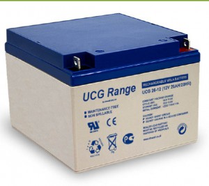 Batterie plomb scellée à électrolyte gelifié ULTRACELL UCG26-12 - 12V - 26Ah