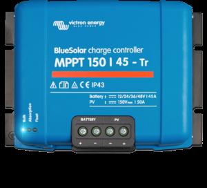 Régulateur solaire de charge décharge MPPT avec afficheur LCD VICTRON BlueSolar MPPT 150/45 Tr - 12/24/48V - 45A