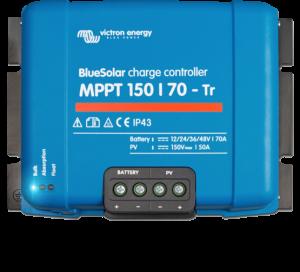 Régulateur solaire de charge décharge MPPT avec afficheur LCD VICTRON BlueSolar MPPT 150/70 Tr - 12/24/36/48V - 70A