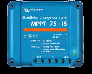 Régulateur solaire de charge décharge MPPT avec afficheur LCD VICTRON BlueSolar MPPT 75/15 - 12/24V - 15A