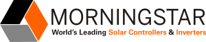 Logo MORNINGSTAR, fabricant américain de régulateurs solaires