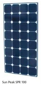 Module photovoltaïque SunPeak - cellules Mono backcontact (SunPower) - 12V - 100Wc