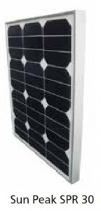 Module photovoltaïque SunPeak - cellules Mono backcontact (SunPower) - 12V - 30Wc