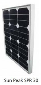 Module photovoltaïque SunPeak - cellules Mono backcontact (SunPower) - 12V - 30Wc