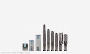 Gamme de pompe immergées LORENTZ PS C - de 20 à 160m HMT - de 4 à 79m³/h - PS150 C, PS600 C, PS1800 C, PS4000 C