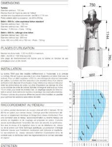 Caractéristiques turbine Turbiwatt T800 ou Lion