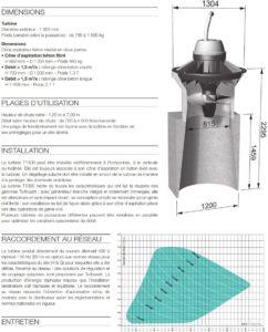 Caractéristiques turbine Turbiwatt T1300 ou Tigre