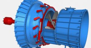 HPP - Hydro Power Plant - Turbine Hydro-électrique Kaplan 01