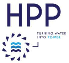 Logo HPP - Hydro Power Plant - fabricant français de turbines hydro-électriques Francis Kaplan, Pelton & Vis hydrodynamique