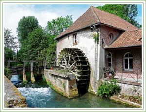 Roue de dessous ou Overshot water wheel - Rigamonti Ghisa